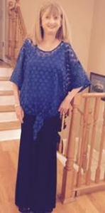 Lisa in fancy outfit